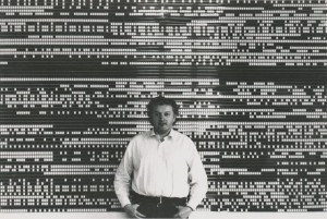 Peter Kubelka con la pellicola di Arnulf Reiner. Film o opera digitale?