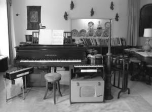 Gli strumenti di Giacinto Scesi usati per le improvvisazioni